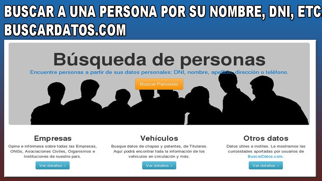 encontrar datos de personas: