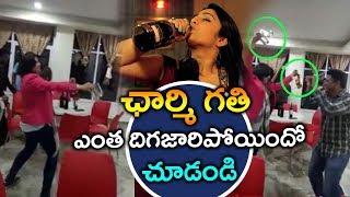 Heroine Charmi Dance With PuriJagannadh In Private Party