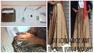 DIY| Long Circle Skirt Tutorial Part 1 Using A Bed Sheet