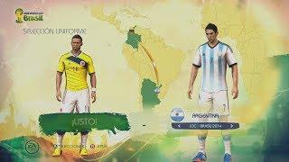 FIFA World Cup Brazil 2014 Juego Completo Menús, Modos