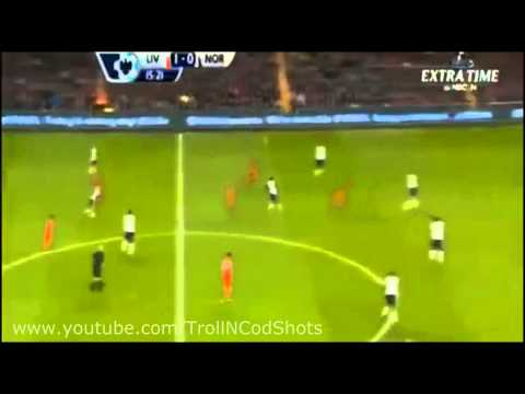 ASTONISHING Suarez Goal - Liverpool vs Norwich (Premier League 5-1 04/12/2013) | Suarez Hat-trick