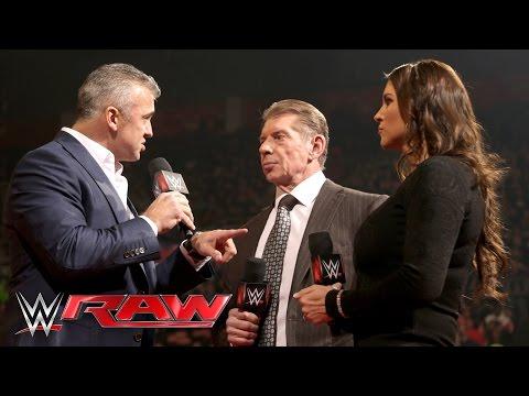Retour de Shane McMahon à WWE Raw