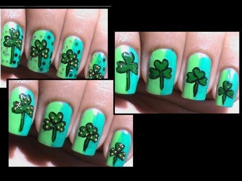 St. Patrick's day nails pictures