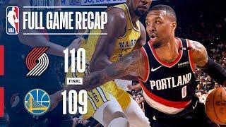 Full Game Recap: Trail Blazers VS Warriors | Portland Wins OT Thriller!