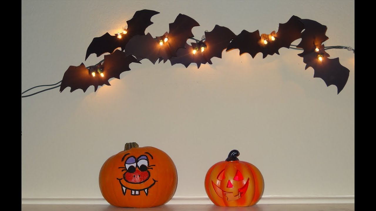 How To Make Scary Bats Halloween Craft Youtube