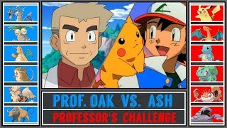 Ash vs. Professor Oak (Pokémon Ultra Sun/Moon) - Kanto Professor's Challenge