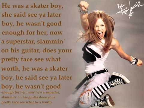 Avril Lavigne - Sk8er Boi Lyrics and Free YouTube Music Videos