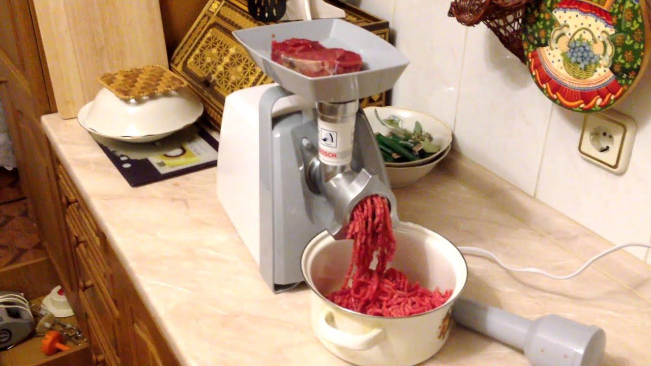Как сделать колбасу в мясорубке бош