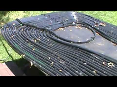 Swimming Pool Solar Heater Youtube