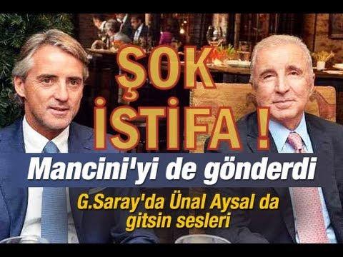 Roberto Mancini Galatasaray'dan İstifa Etti!  FLAŞ!!