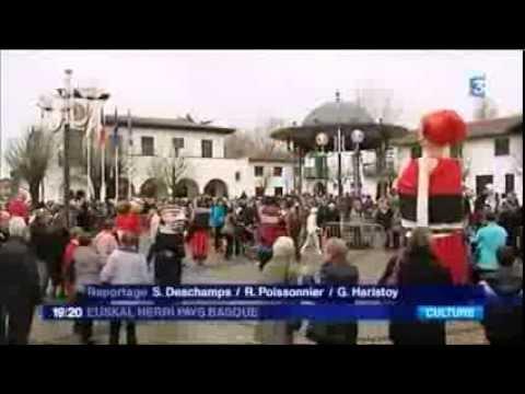 France 3 Pays Basque - Fêtes d'Anglet défilé des géants et grosses têtes 2 Mars 2014