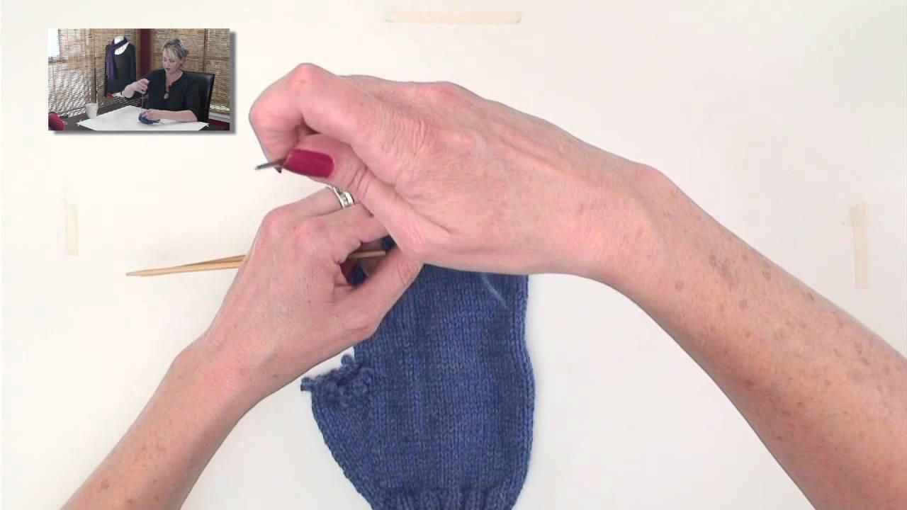 Knitting Grafting Underarm Stitches : Knitting help kitchener stitch youtube