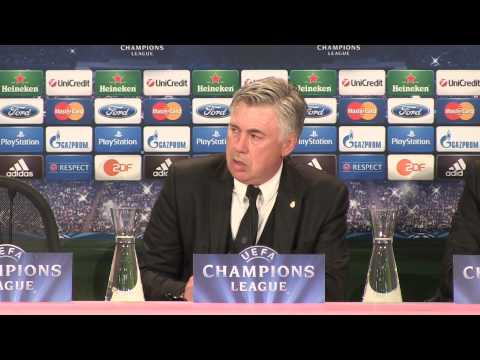 Carlo Ancelotti in English post Bayern Munich v Real Madrid - 29 4 2014