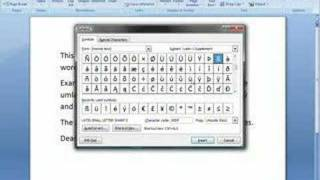 Add Character Accents (diacritics) To Word 2007 Text