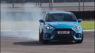 Ford Focus RS (2015) at Rockingham --  DRIVE ARCHIVES. Drive Youtube Channel.