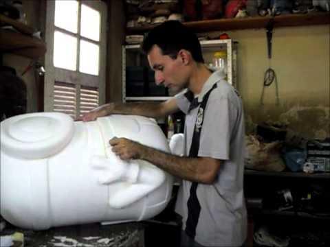 Escultura em isopor aula 04
