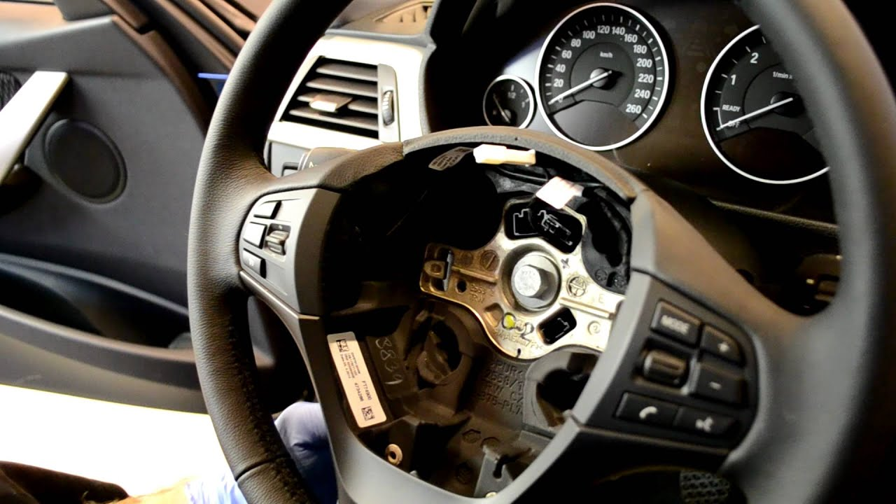 Bmw F20 F30 Steering Wheel And Airbag Removal 1 And 3