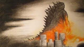 Godzilla 2014 Amazing Fan Art-Speed Drawing 2