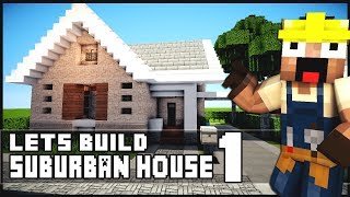 Minecraft House Tutorial: Suburban House - Part 1