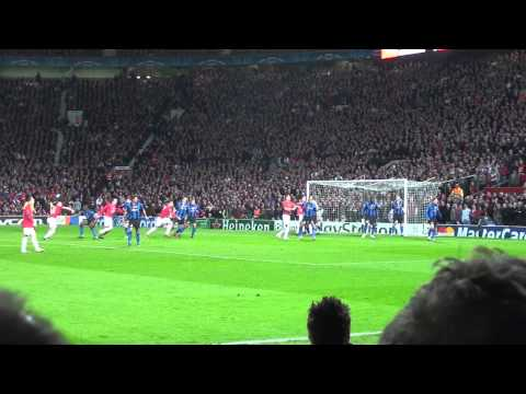 Vidic Headed Goal Captured as we beat the Special One's Inter-Milan 2 nil in 2009