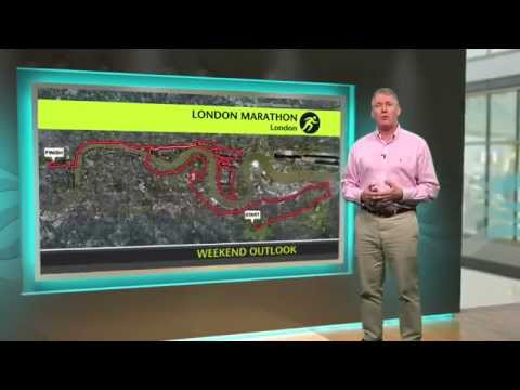 London Marathon - Events weather forecast