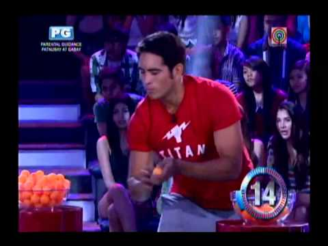 Gerald plays P1-M challenge in 'Minute to Win It'