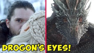 The Truth Behind Drogon's Strange Glare At Jon Snow! ⚔️ SEASON 8 🔮