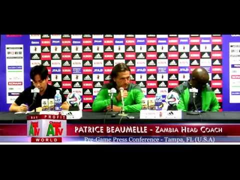 Zambia Vs Japan - Pre Game Press Conference in Tampa Florida