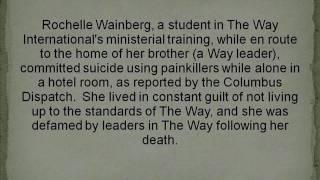 The Way International : Suicides, Murders, Deaths