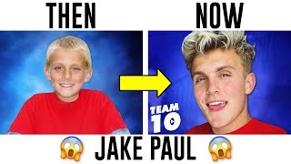 YouTubers Then And Now 2017 (Jake Paul, PewDiePie, DanTDM, Logan Paul)
