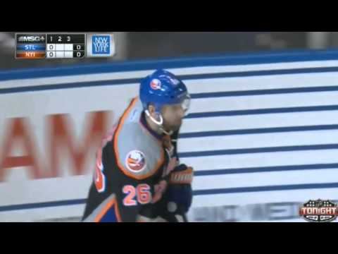 Thomas Vanek Goal : NY Islanders v Blues : January 25 2014