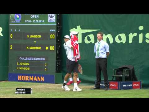 Gerry Weber Open 2014 Viertelfinale: Steve Johnson vs Kei Nishikori