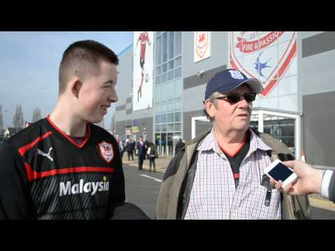 Vox pop before Cardiff v Fulham March 8.