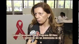 Mutir�o realiza teste r�pido de HIV na Rodovi�ria de BH