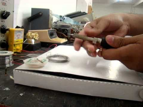 how to clean an oxidized soldering tip youtube. Black Bedroom Furniture Sets. Home Design Ideas