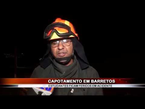22/04/2018 - Estudantes de medicina ficam feridos em capotamento registrado em Barretos