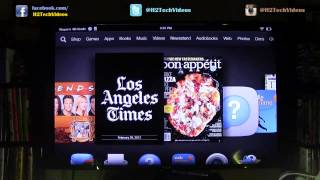 Kindle Fire HDX How To Wirelessly Mirror To A TV (Using