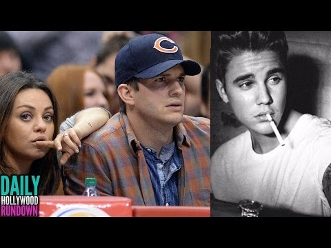 Mila Kunis & Ashton Kutcher Pregnant! Justin Bieber James Dean Comparison! (DHR)