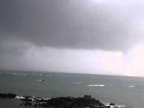 Tornado en la Ría de Arousa