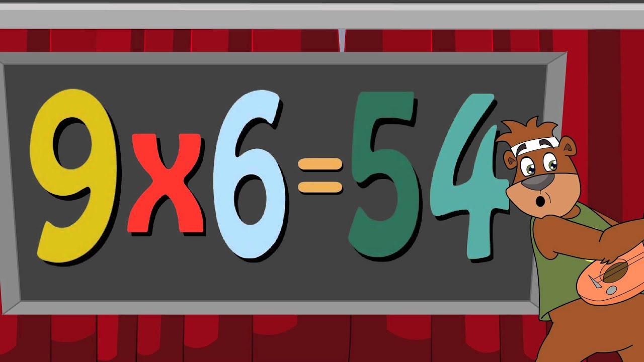 9 times table multiplication song with numbear 9 brad for 12 times table song youtube