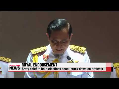 Thai army chief receives royal endorsement after staging coup