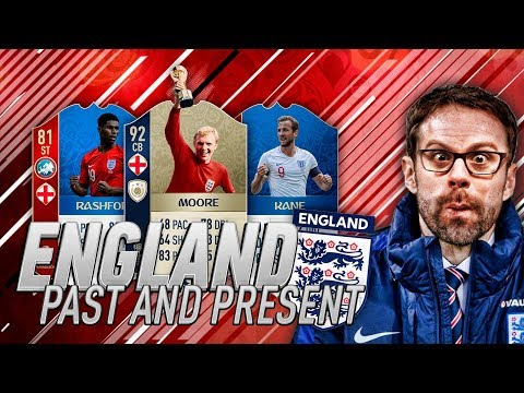 PAST AND PRESENT ENGLAND SQUAD!!!! WORLD CUP RUN #1 - FIFA 18 Ultimate Team