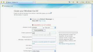 How To Sign Up For MSN Hotmail & Download The Newest MSN