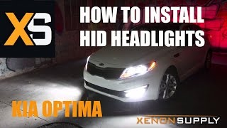 Kia Optima How To Install HID Xenon (/w Wiring Harness