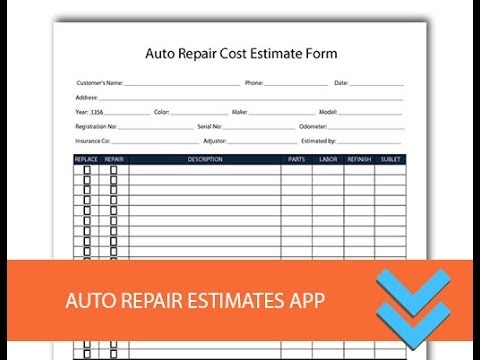 Car Collision Paint Repair Estimate