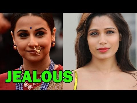 Vidya Balan is 'JEALOUS' of Freida Pinto ? - Bobby Jasoos Movie