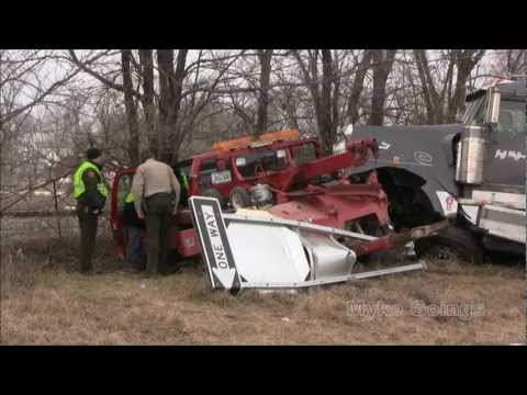 2013-01- 24 Two Injured when Semi Rear-ends Tow Truck - Myke Goings - KMDG