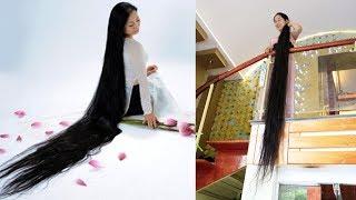 Bất ngờ với người phụ nữ có mái tóc dài nhất Việt Nam - TIN TỨC 24H TV