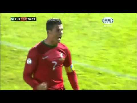 Cristiano Ronaldo - Hat Trick - Northern Ireland 2 x 4 Portugal - Goals - 06/09/2013