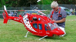 HUGE XXXL RC BELL-429 SCALE TURBINE MODEL HELICOPTER FLIGHT DEMONSTRATION